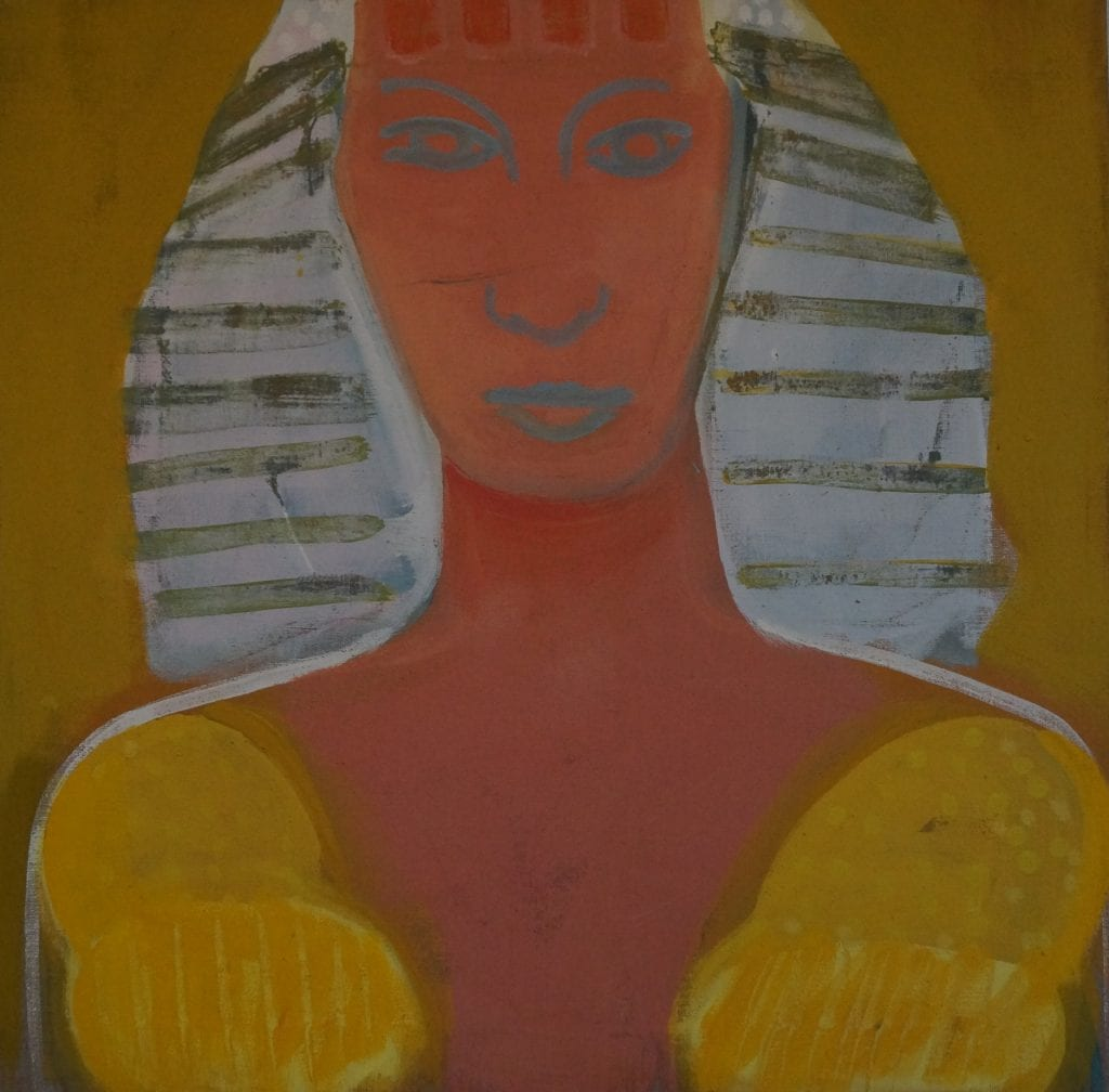 The Lioness, 70x50, egge tempera on canvas