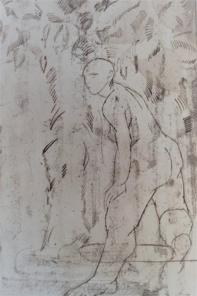 Etching,, drypoint