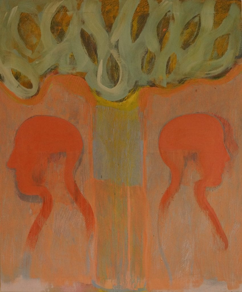 Family Tree, 120x100 cm , egg tempera on canvas