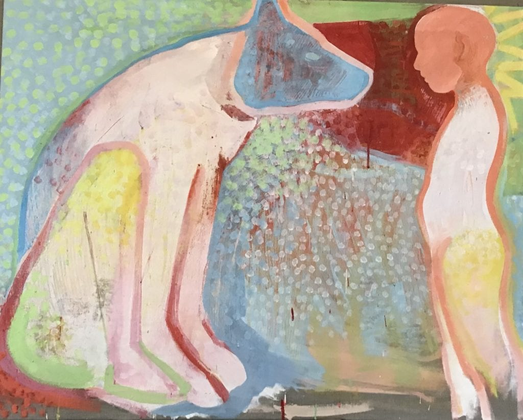 Agreements between friends, 80x100 cm egg tempera on canvas
